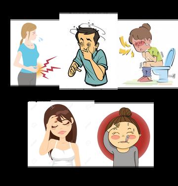 síntomas de la infección intestinal o gastroenteritis